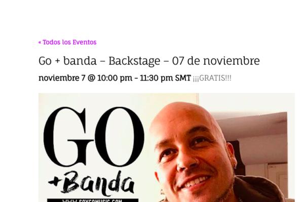 Go <br> Chile Funk <br> Noviembre 2019