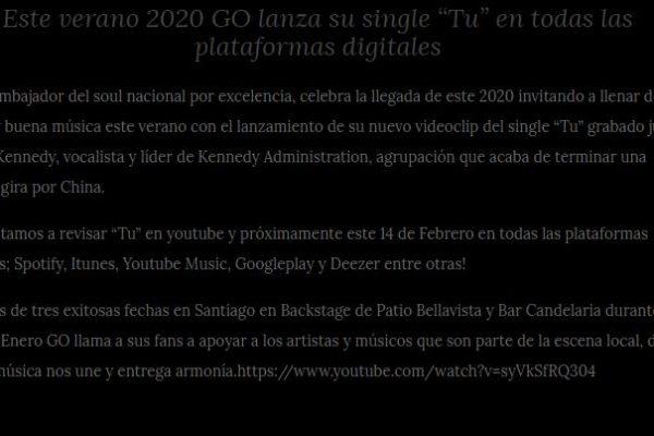 Go <br>vinilomusic.cl<br> Febrero 2020