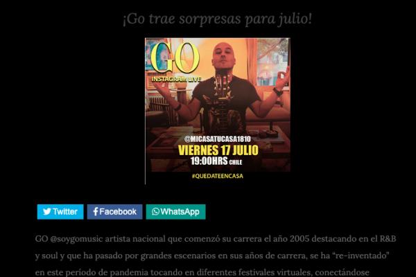 Go <br> ViniloMusic <br> 15 Julio 2020