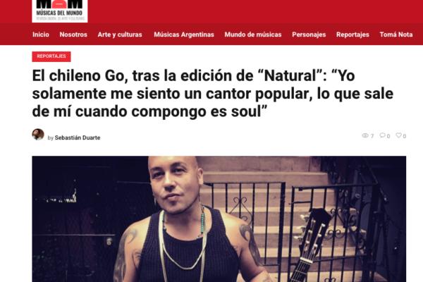 Go <br> Músicadelmundo <br> 03 Agosto 2020